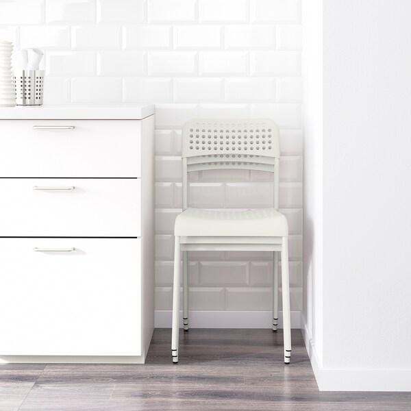MELLTORP / ADDE Mesa e 4 cadeiras, branco, 125 cm
