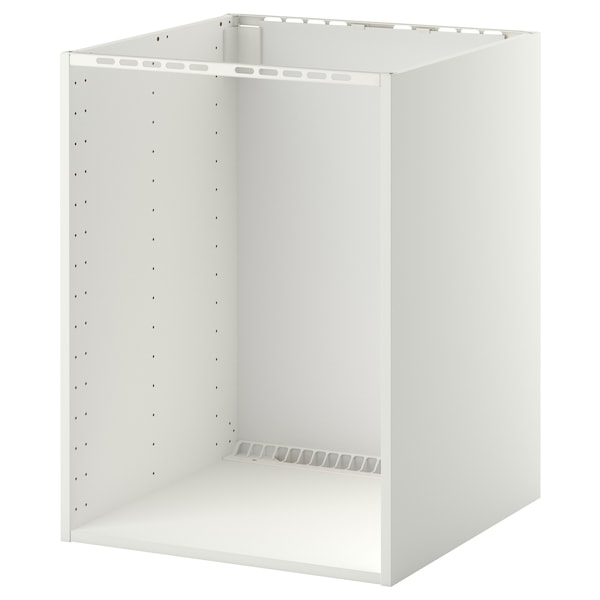 METOD Arm baix p/forno/lava-lç encast, branco, 60x60x80 cm