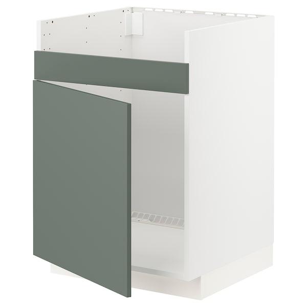 METOD Arm bx p/HAVSEN lv-lç 1 bac, branco/Bodarp verde acinzentado, 60x60 cm