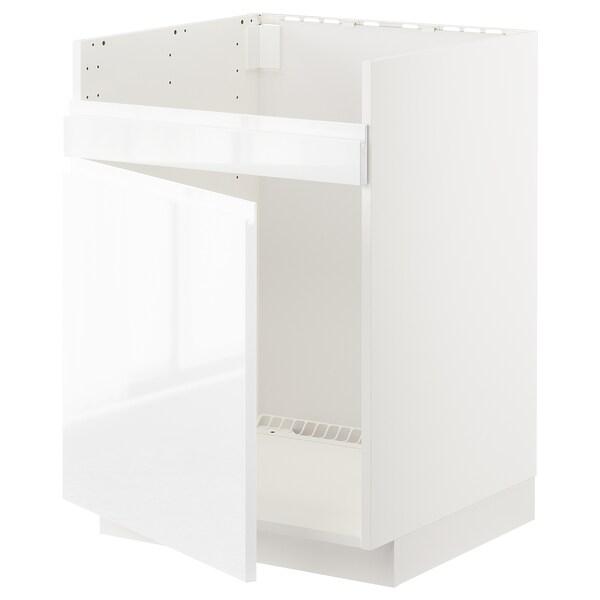 METOD Arm bx p/HAVSEN lv-lç 1 bac, branco/Voxtorp branco/brilh, 60x60 cm