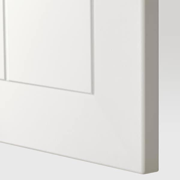 METOD Arm parede horizontal c/abert press, branco/Stensund branco, 40x40 cm