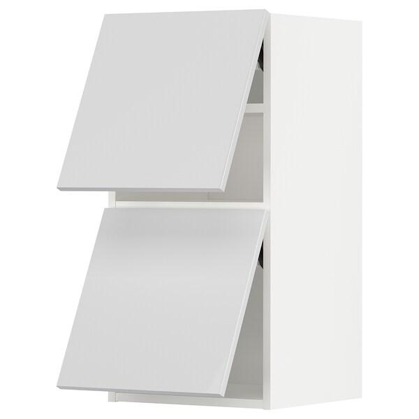 METOD Arm prd horiz 2ports c/abert press, branco/Ringhult branco, 40x80 cm