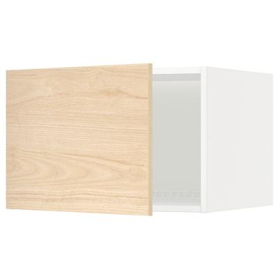 METOD Arm sup p/frig/cong, branco/Askersund efeito freixo claro, 60x40 cm