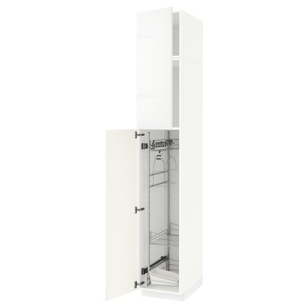 METOD Armário alto c/int p/prod limpeza, branco/Ringhult branco, 40x60x240 cm