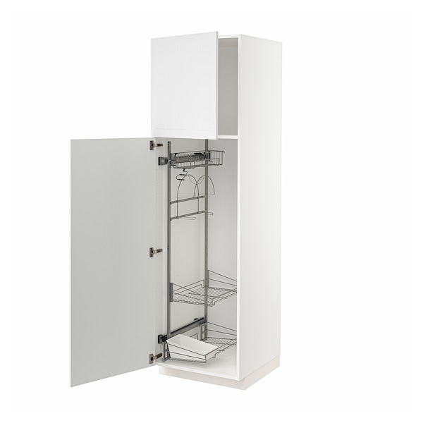 METOD Armário alto c/int p/prod limpeza, branco/Stensund branco, 60x60x200 cm