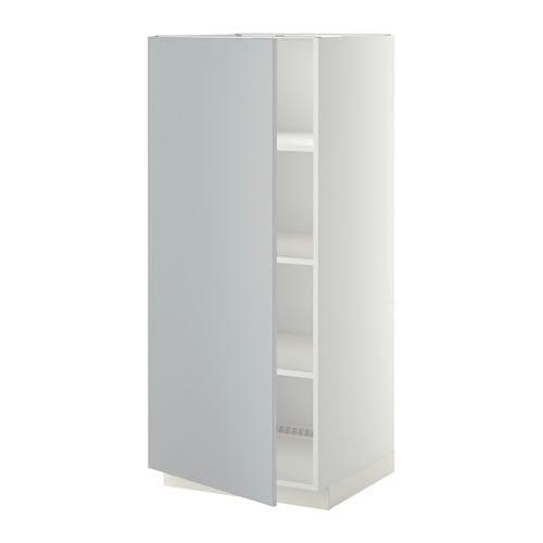 Armario Alto Para Limpieza Ikea ~ METOD Armário alto c prateleiras , Veddinge cinz IKEA