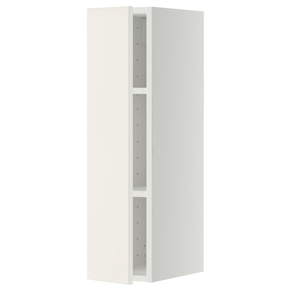 METOD Armário de parede c/prateleira, branco/Veddinge branco, 20x80 cm