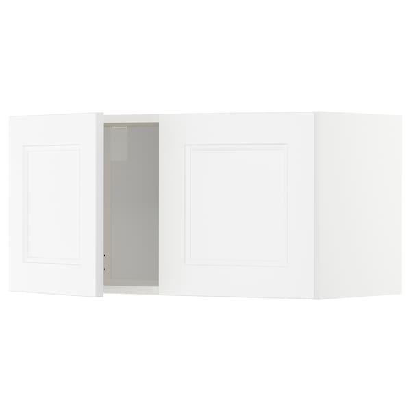 METOD Armário parede c/2portas, branco/Axstad branco mate, 80x40 cm