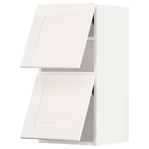 METOD Armário parede horiz c/2portas, branco/Sävedal branco, 40x80 cm