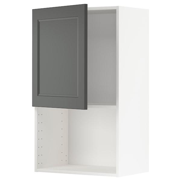 METOD Armário parede p/forno micro-ondas, branco/Axstad cinz esc, 60x100 cm