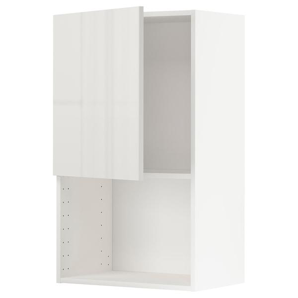 METOD Armário parede p/forno micro-ondas, branco/Ringhult cinz clr, 60x100 cm