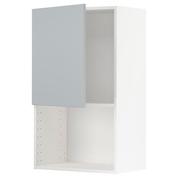 METOD Armário parede p/forno micro-ondas, branco/Veddinge cinz, 60x100 cm
