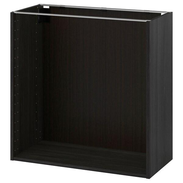 METOD Estrutura armário baixo, efeito madeira preto, 80x37x80 cm