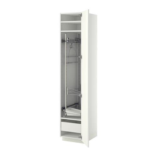 Artesanato De Jornal Como Pintar ~ METOD FÖRVARA Armário alto c int p prod limpeza branco, Ringhult brilh branco IKEA