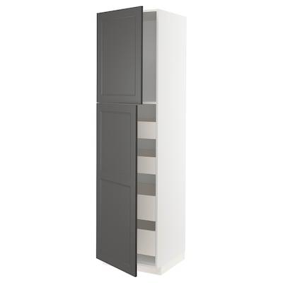 METOD / MAXIMERA Ar alt 2pt/4gv, branco/Axstad cinz esc, 60x60x220 cm