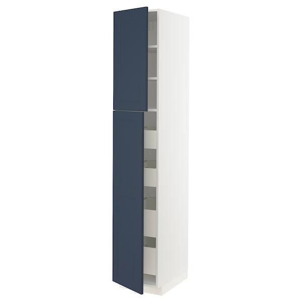 METOD / MAXIMERA Ar alt 2pt/4gv, branco Axstad/mate azul, 40x60x220 cm