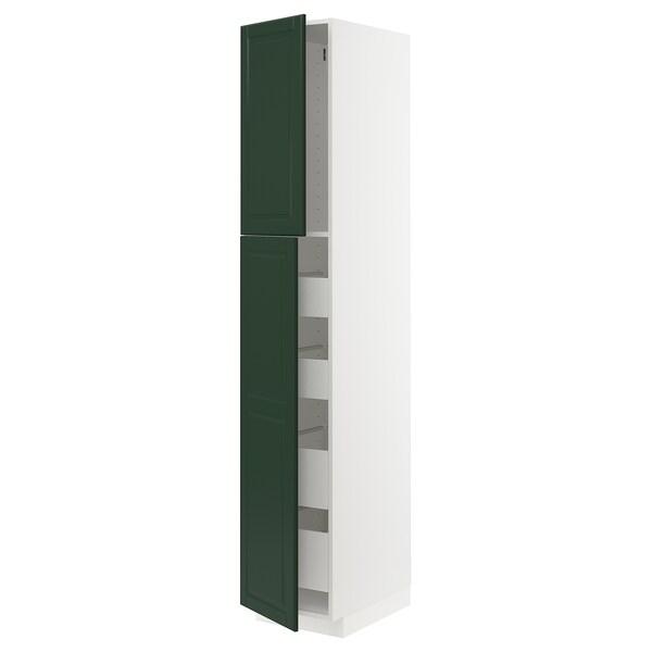 METOD / MAXIMERA Ar alt 2pt/4gv, branco/Bodbyn verde escuro, 40x60x220 cm