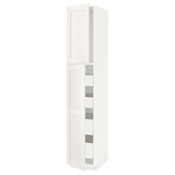 METOD / MAXIMERA Ar alt 2pt/4gv, branco/Sävedal branco, 40x60x220 cm