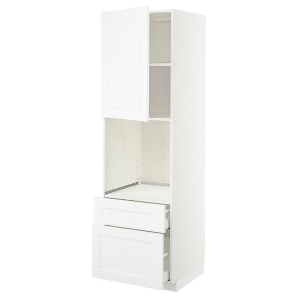 METOD / MAXIMERA Ar alto p/frn c/g/2ft/1g méd/1g alt, branco/Axstad branco mate, 60x60x200 cm