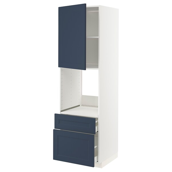 METOD / MAXIMERA Ar alto p/frn c/g/2ft/1g méd/1g alt, branco Axstad/mate azul, 60x60x200 cm