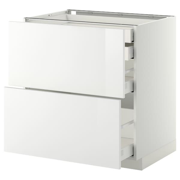 METOD / MAXIMERA Arm bx 2 fr/2gv bx/1gv méd/1 gv alt, branco/Ringhult branco, 80x60 cm