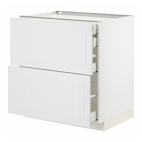 METOD / MAXIMERA Arm bx 2 fr/2gv bx/1gv méd/1 gv alt, branco/Stensund branco, 80x60 cm