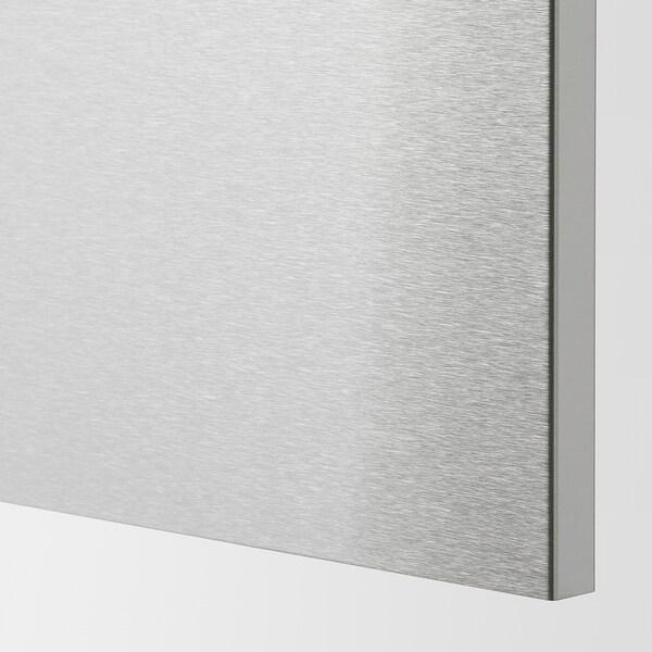 METOD / MAXIMERA Arm bx 2 fr/2gv bx/1gv méd/1 gv alt, branco/Vårsta aço inoxidável, 40x60 cm
