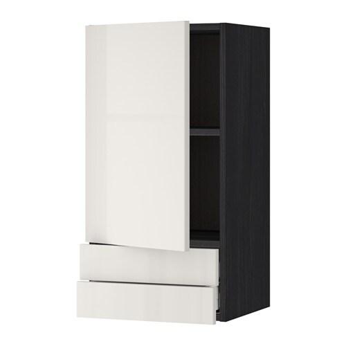 metod maximera arm parede c porta 2 gavetas efeito madeira preto 40x80 cm ikea. Black Bedroom Furniture Sets. Home Design Ideas