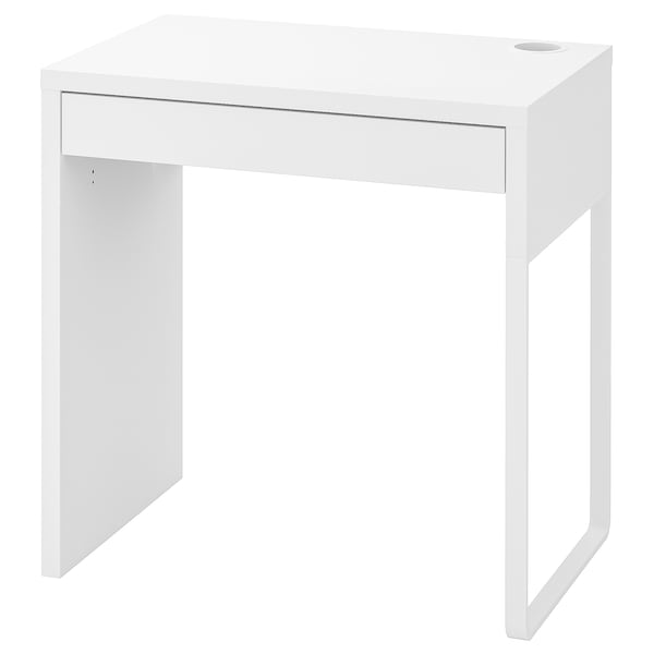 MICKE Secretária, branco, 73x50 cm