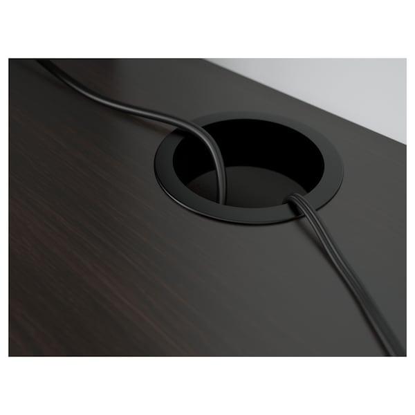 MICKE Secretária, pret-cast, 105x50 cm