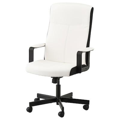 MILLBERGET Cadeira giratória, Kimstad branco
