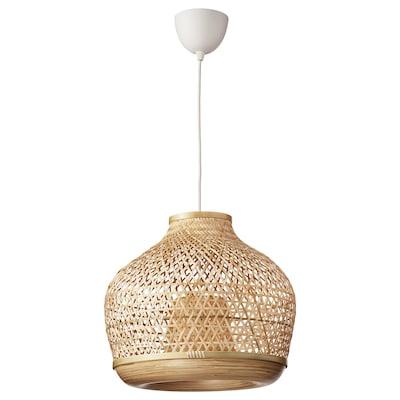 MISTERHULT Candeeiro suspenso, bambu/feito à mão, 45 cm