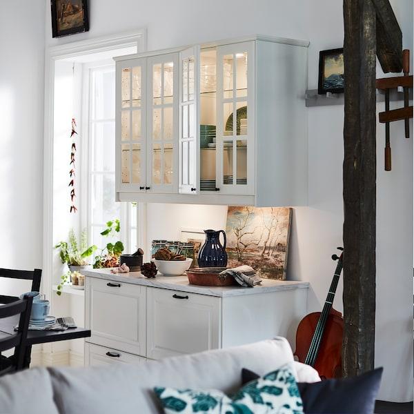 MITTLED Calha de ilum LED p/bancada cozinha, intensidade regulável branco, 40 cm
