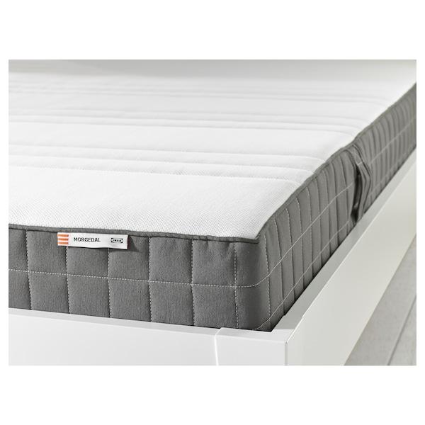 MORGEDAL Colchão de espuma, firme/cinz esc, 140x200 cm