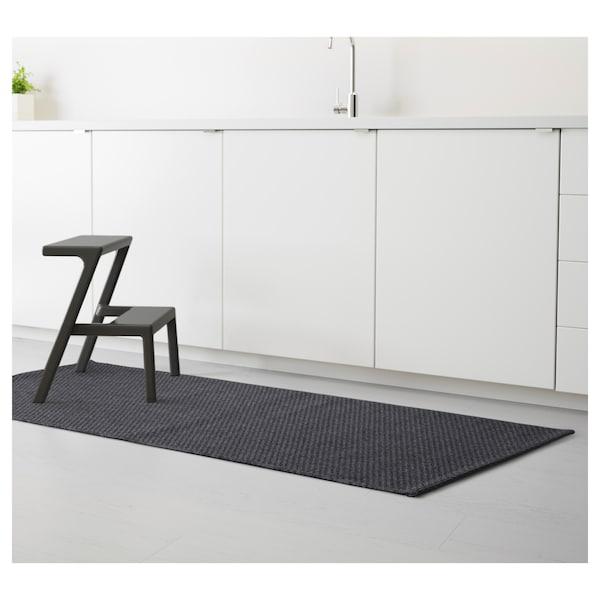 MORUM Tapete tecelag plana, int/exterior, cinz esc, 80x200 cm