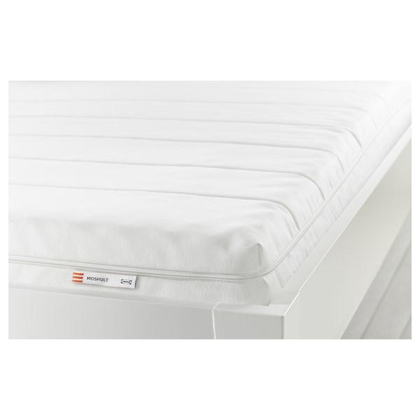 MOSHULT Colchão de espuma, firme/branco, 140x190 cm