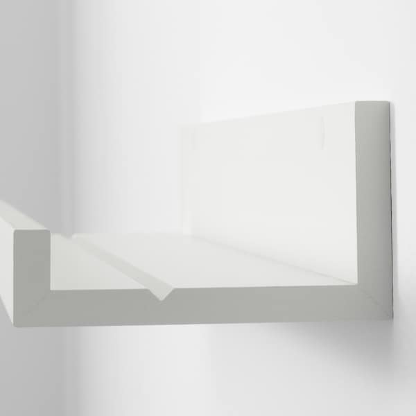 MOSSLANDA Prateleira p/molduras, branco, 55 cm