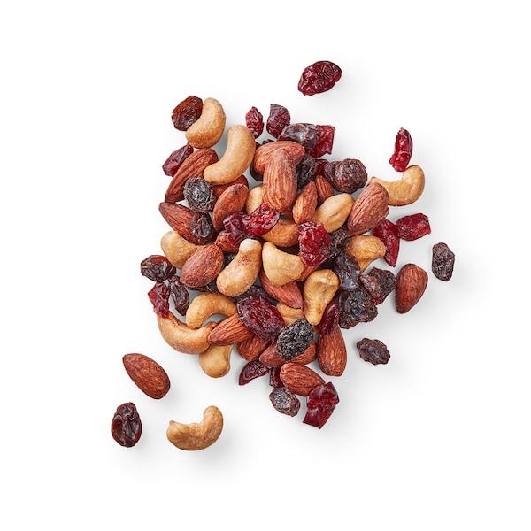 MUNSBIT Mistura frutos secos torrados, arandos e passas sem sal, 60 gr