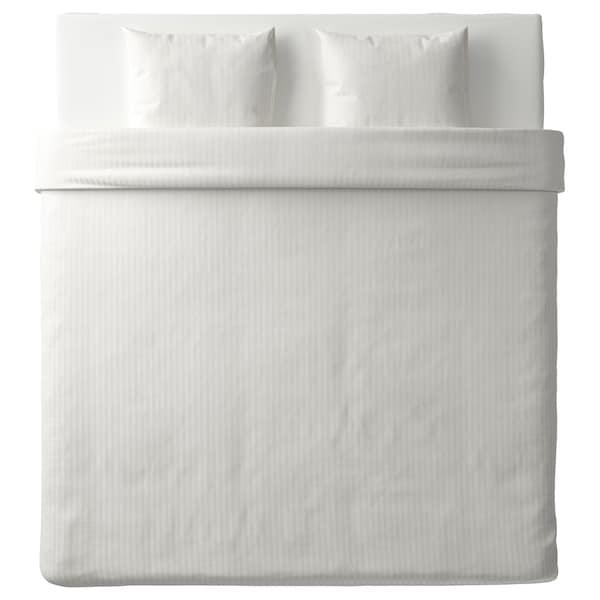 NATTJASMIN Capa de edredão e 2 fronhas, branco, 240x220/50x60 cm