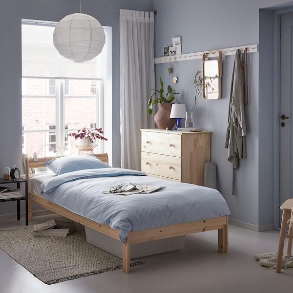 NEIDEN Estrutura de cama, pinho, 90x200 cm