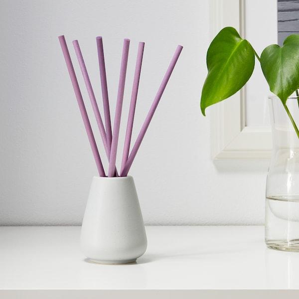 NJUTNING Jarra c/6 ramos perfumados, Lavanda aromática/lilás