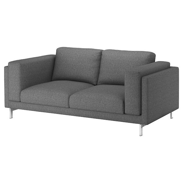 NOCKEBY Capa p/sofá de 2 lugares, Lejde cinz esc