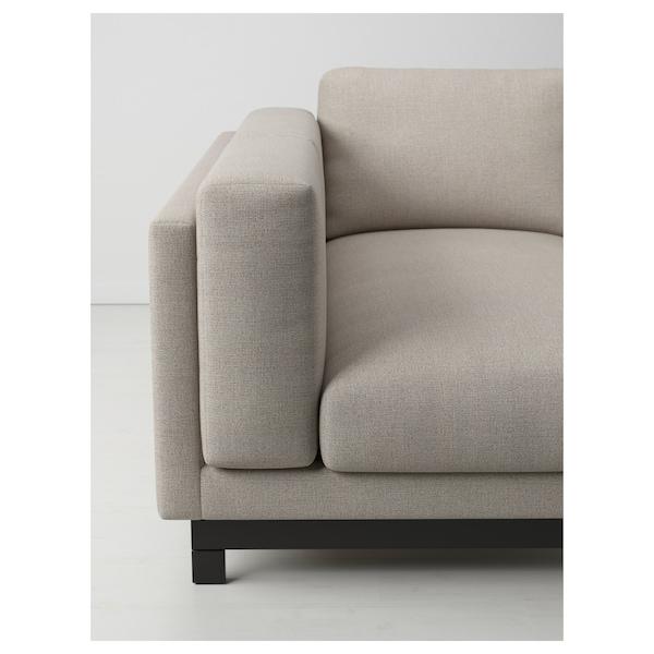 NOCKEBY Pés p/sofá 3 lug c/chaise longue, madeira