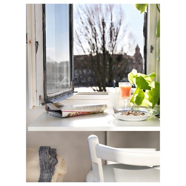 NORBERG Mesa rebatível p/parede, branco, 74x60 cm