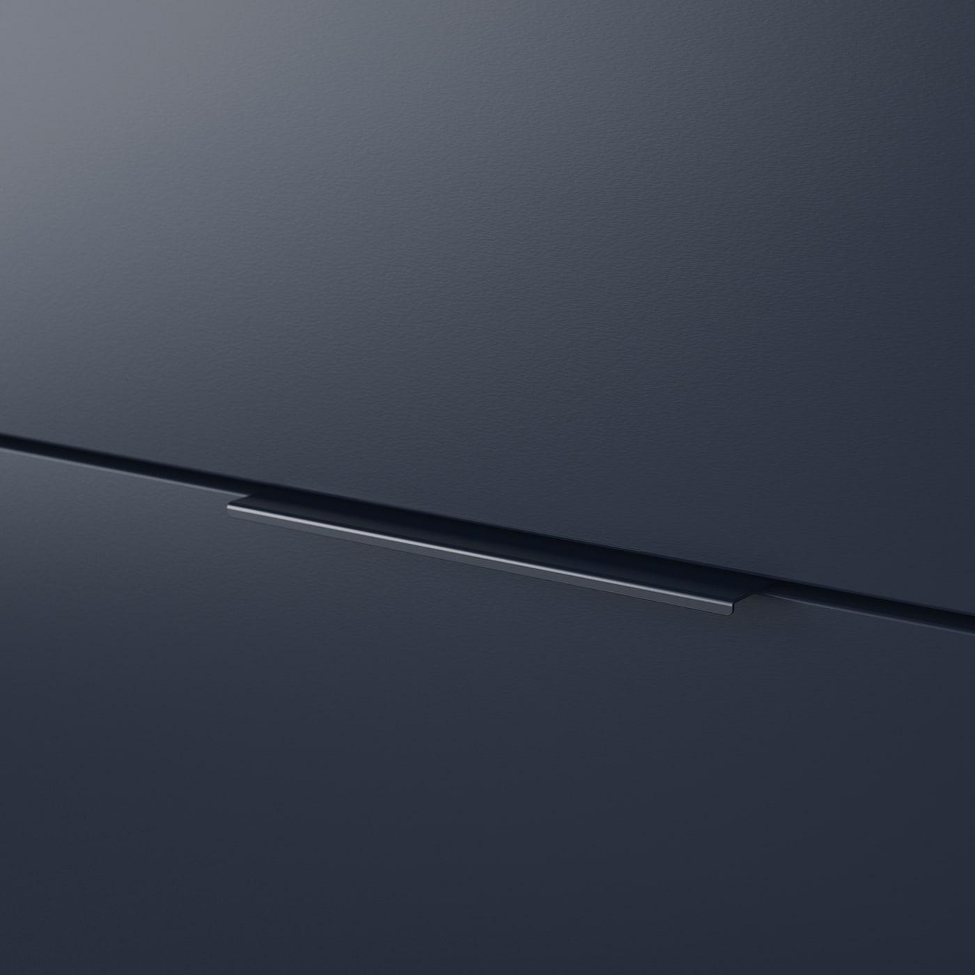 NORDMELA Cómoda c/4 gavetas - azul-preto 159x50 cm