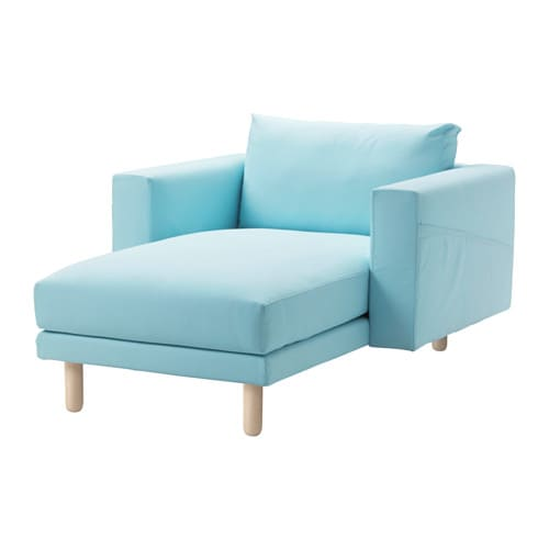 Norsborg chaise longue edum azul claro b tula ikea for Chaise longue azul turquesa