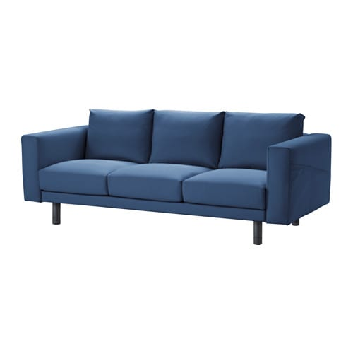 Norsborg sof de 3 lugares edum azul escuro cinz ikea - Sofas grandes ikea ...