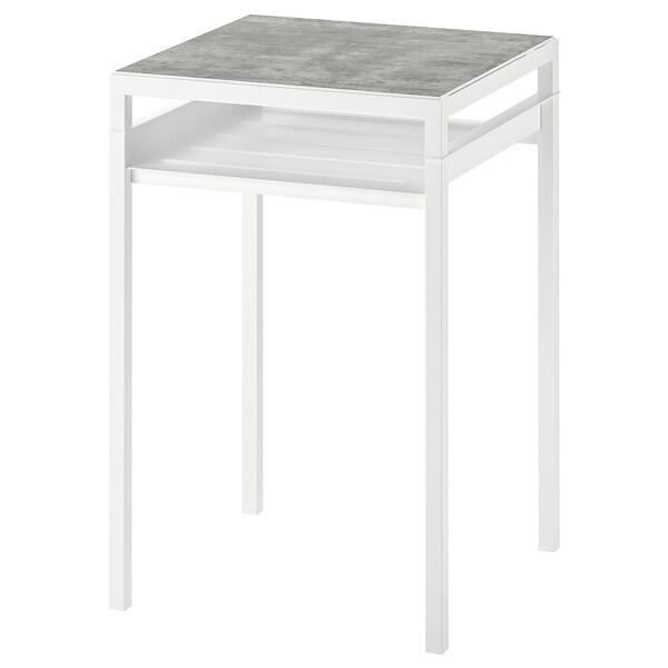 NYBODA mesa de apoio c/tampo reversível cinz clr efeito betão/branco 40 cm 40 cm 60 cm
