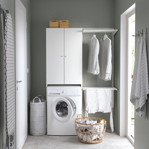 NYSJÖN Armário p/máquina de lavar roupa, branco, 65x190 cm