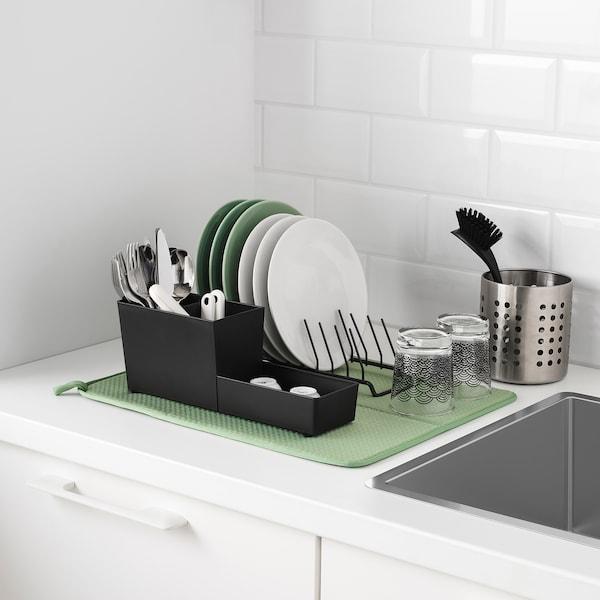 NYSKÖLJD Tapete p/escorrer loiça, verde, 44x36 cm
